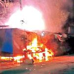 VIOLENCE FLARES UP AGAIN IN BHAINSA, YOUTH ROAM AROUND BRANDISHING SWORDS