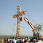 Christian Missionaries encroach hill in mining area at Edlapadu in Andhra Pradesh